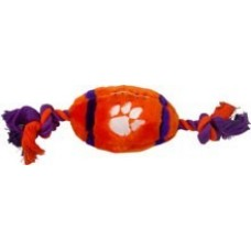 Clemson Tigers Plush Football Dog Toy
