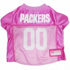 Green Bay Packers Dog Jersey - Pink