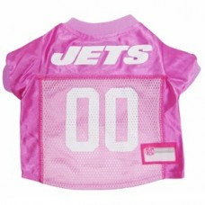 New York Jets Dog Jersey - Pink