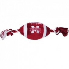 Mississippi State Plush Football Dog Toy