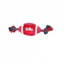 Mississippi Rebels Plush Football Dog Toy