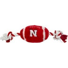 Nebraska Huskers Plush Football Dog Toy